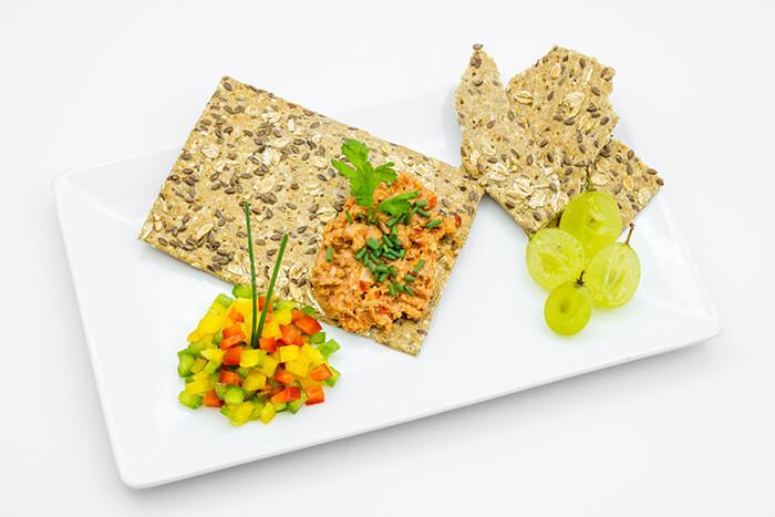 Vegan Organic Bell pepper paté spread